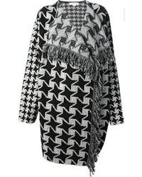 Abrigo de pata de gallo en negro y blanco