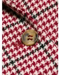 Abrigo de pata de gallo rojo de RED Valentino