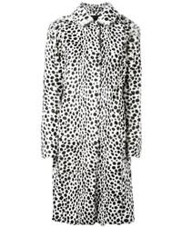 Abrigo de Piel Blanco y Negro de Givenchy