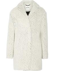 Abrigo de piel blanco de Kenzo