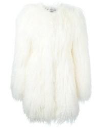 Abrigo de piel blanco de Philipp Plein
