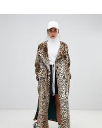 Abrigo de piel de leopardo marrón claro de Story Of Lola