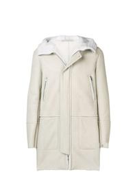 Abrigo de piel de oveja blanco de Salvatore Santoro