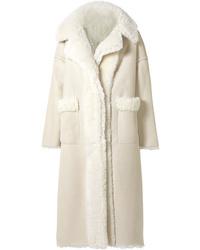 Abrigo de piel de oveja en beige