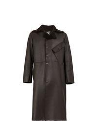 Abrigo de piel de oveja en marrón oscuro de Cherevichkiotvichki