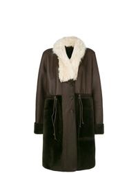 Abrigo de piel de oveja en marrón oscuro de Chloé
