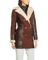 Abrigo de piel de oveja en marrón oscuro de Tommy Hilfiger