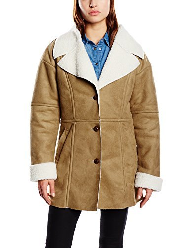 Abrigo de piel de oveja marrón claro de Blend