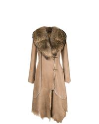 Abrigo de piel de oveja marrón claro de Desa 1972
