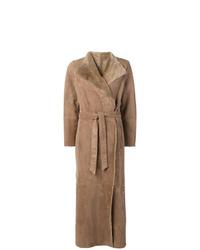 Abrigo de piel de oveja marrón claro de Eleventy