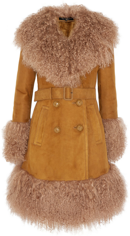 efa88cf10 Abrigo de piel de oveja marrón claro de Gucci, €8,450 | NET-A-PORTER ...