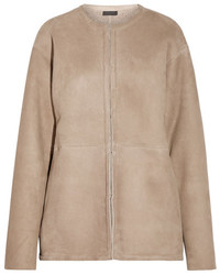 Abrigo de piel de oveja marrón claro de J.Crew