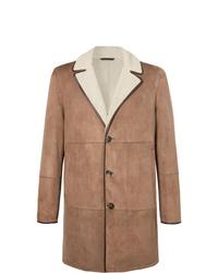 Abrigo de piel de oveja marrón claro de Loro Piana