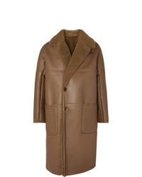 Abrigo de piel de oveja marrón de Berluti