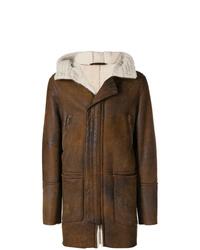 Abrigo de piel de oveja marrón de Salvatore Santoro