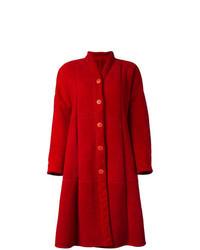 Abrigo de piel de oveja rojo