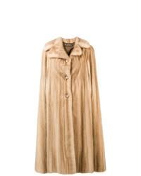 Abrigo de piel en beige de A.N.G.E.L.O. Vintage Cult