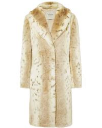 Abrigo de piel en beige de Fuzz Not Fur