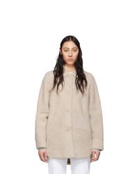 Abrigo de piel en beige de Isabel Marant