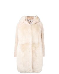 Abrigo de piel en beige de Liska