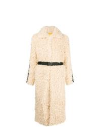 Abrigo de piel en beige de Pinko