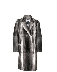 Abrigo de piel en gris oscuro de Billionaire