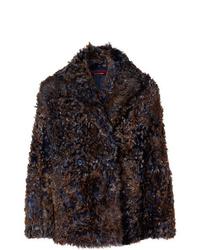 Abrigo de piel en marrón oscuro de Sies Marjan