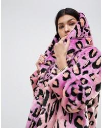 Abrigo de piel en multicolor de ASOS DESIGN