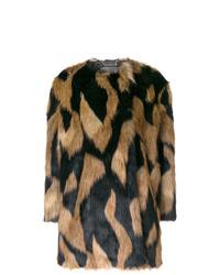 Abrigo de piel en multicolor de Givenchy