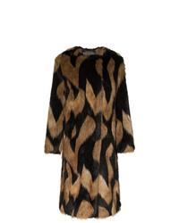 Abrigo de piel estampado marrón de Givenchy