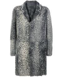 Abrigo de piel gris original 10134528