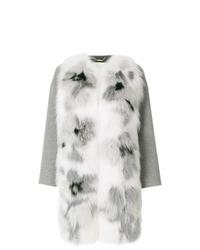 Abrigo de piel gris de Fendi