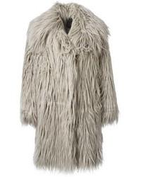 Abrigo de piel gris de Lanvin