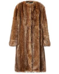 Abrigo de piel marrón de Givenchy