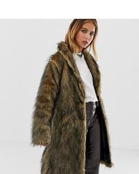 Abrigo de piel marrón de Reclaimed Vintage