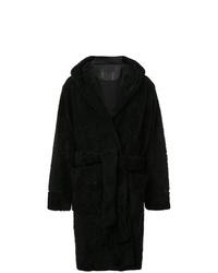 Abrigo de piel negro de Alexander Wang