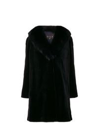 Abrigo de piel negro de Cara Mila