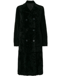 Abrigo de piel negro de Drome