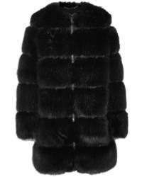 Abrigo de Piel Negro de Givenchy