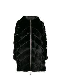 Abrigo de piel negro de Liska