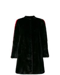 Abrigo de piel negro de Philipp Plein