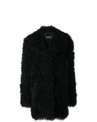 Abrigo de piel negro de Simonetta Ravizza