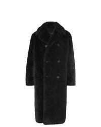 Abrigo de piel negro de Stella McCartney