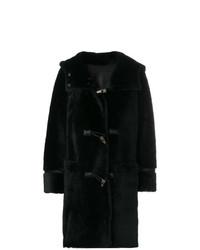 Abrigo de piel negro de Sylvie Schimmel