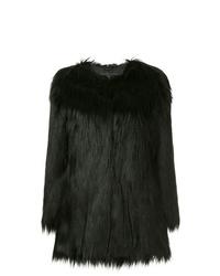 Abrigo de piel negro de Unreal Fur