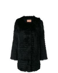 Abrigo de piel negro de Yves Salomon