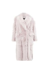 Abrigo de piel rosado de Blancha