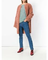 Abrigo de piel rosado de Yves Salomon Meteo