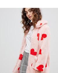 Abrigo de piel rosado de Daisy Street