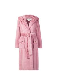 Abrigo de piel rosado de Golden Goose Deluxe Brand